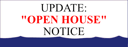 UPDATE: Open House Sales Event Notice