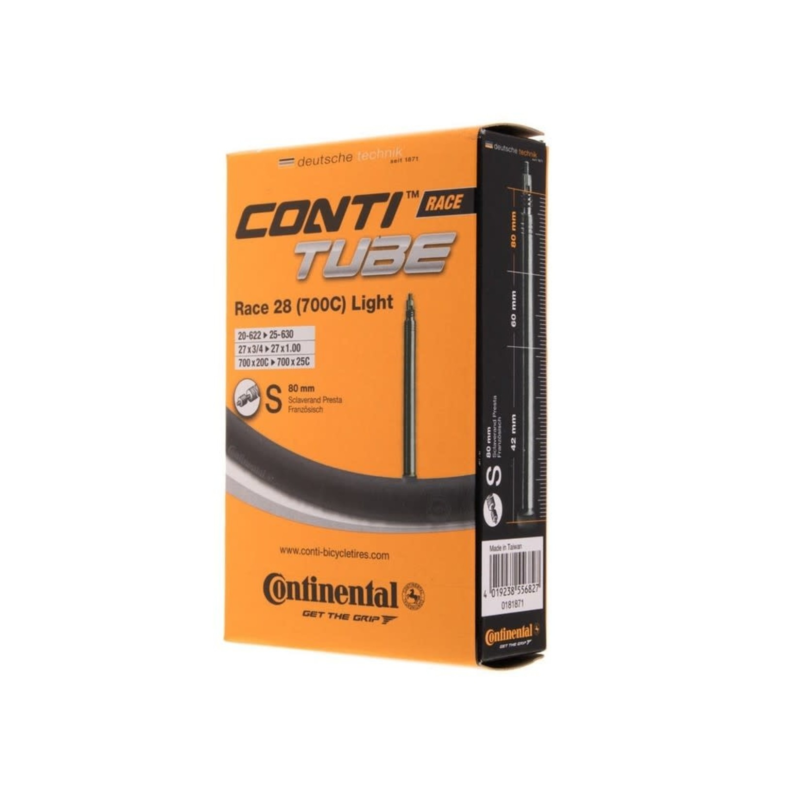 Continental Tube Continental 700 x 18-25mm 80mm LigPresta Valve