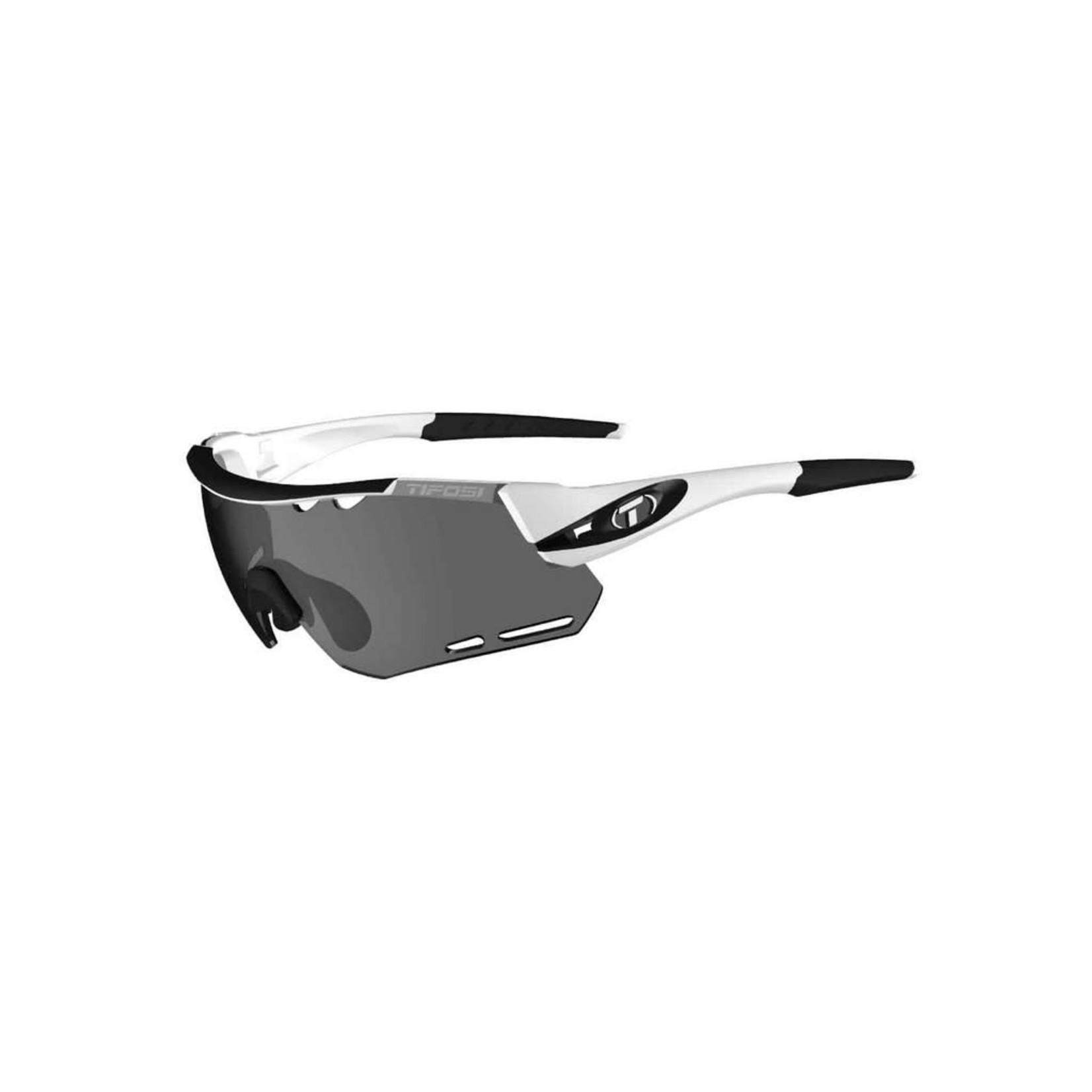 TIFOSI OPTICS Sunglasses Tifosi Alliant White/Black Interchangeable Smoke/AC Red/Clear