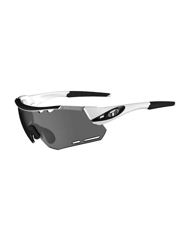 TIFOSI OPTICS Sunglasses Tifosi Alliant White/Black Interchangeable Smoke/AC Red/Clear
