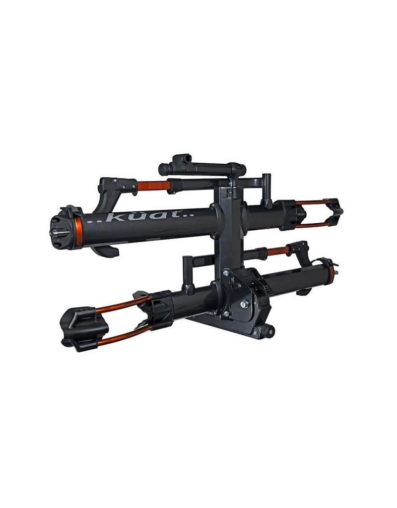 """Kuat Rack Kuat NV 2.0 2"""" 2-Bike Gray Metallic and Orange Anodize"""