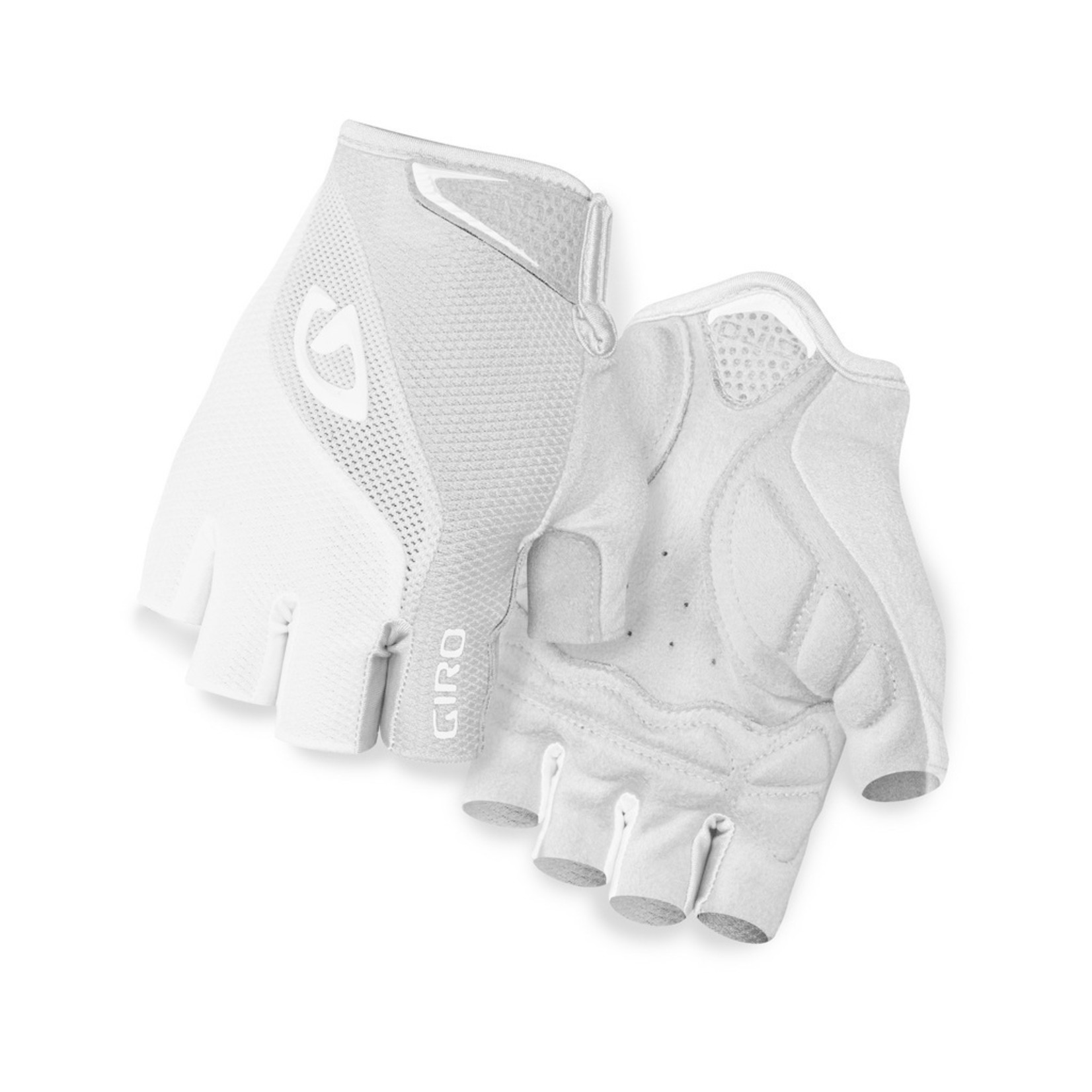 GIRO Gloves Giro Bravo Gel White/Silver