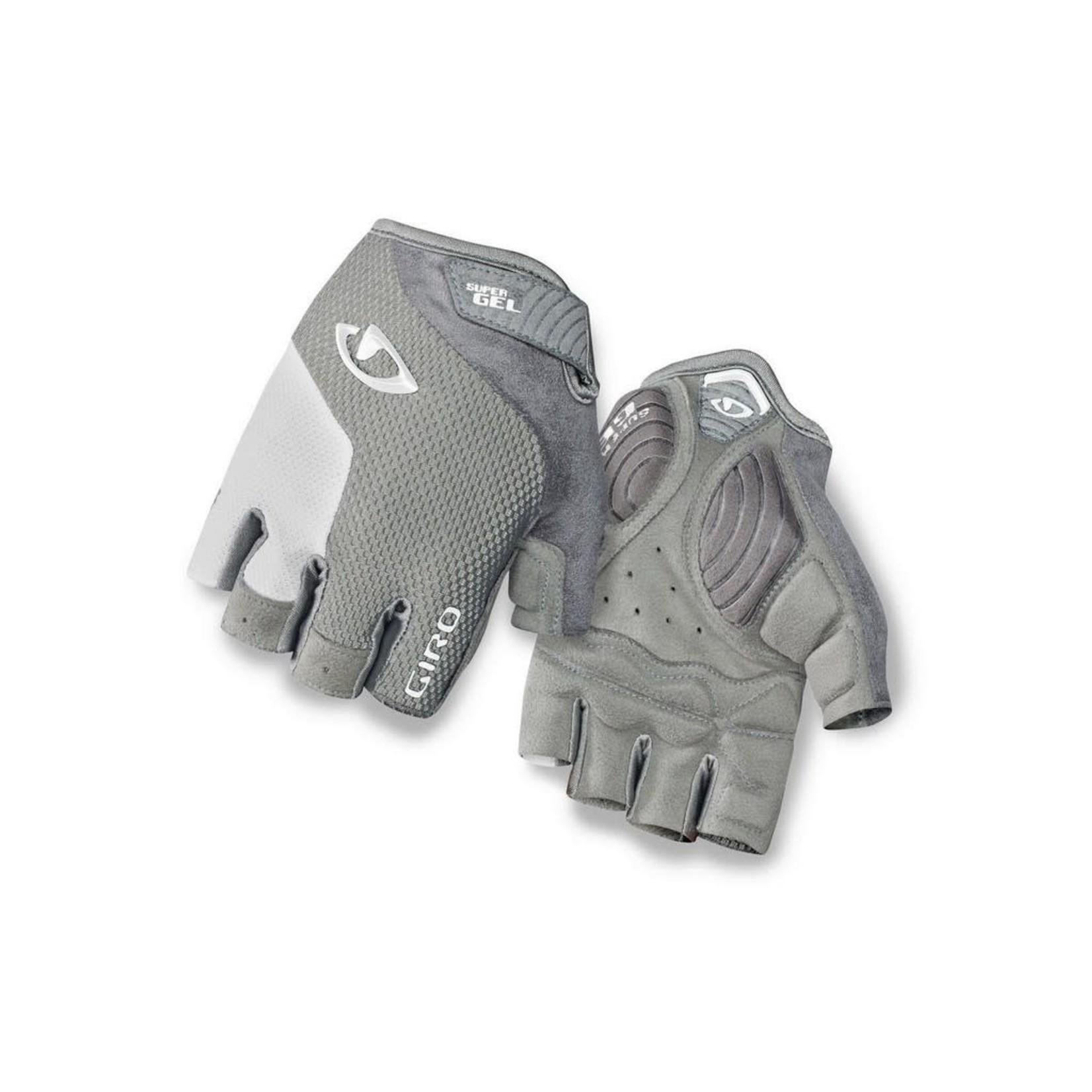 GIRO Gloves Giro Strada Massa Super Gel Silver/White