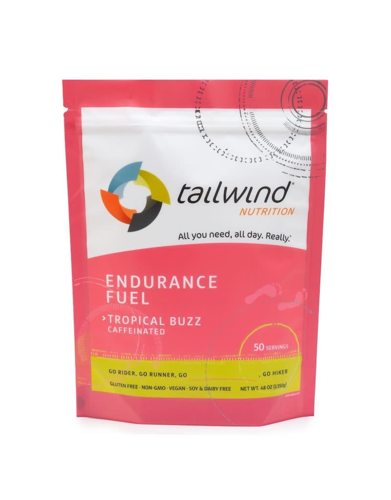 Tailwind Nutrition Endurance Fuel Tailwind Caffeinated Tropical Buzz (50 servings)