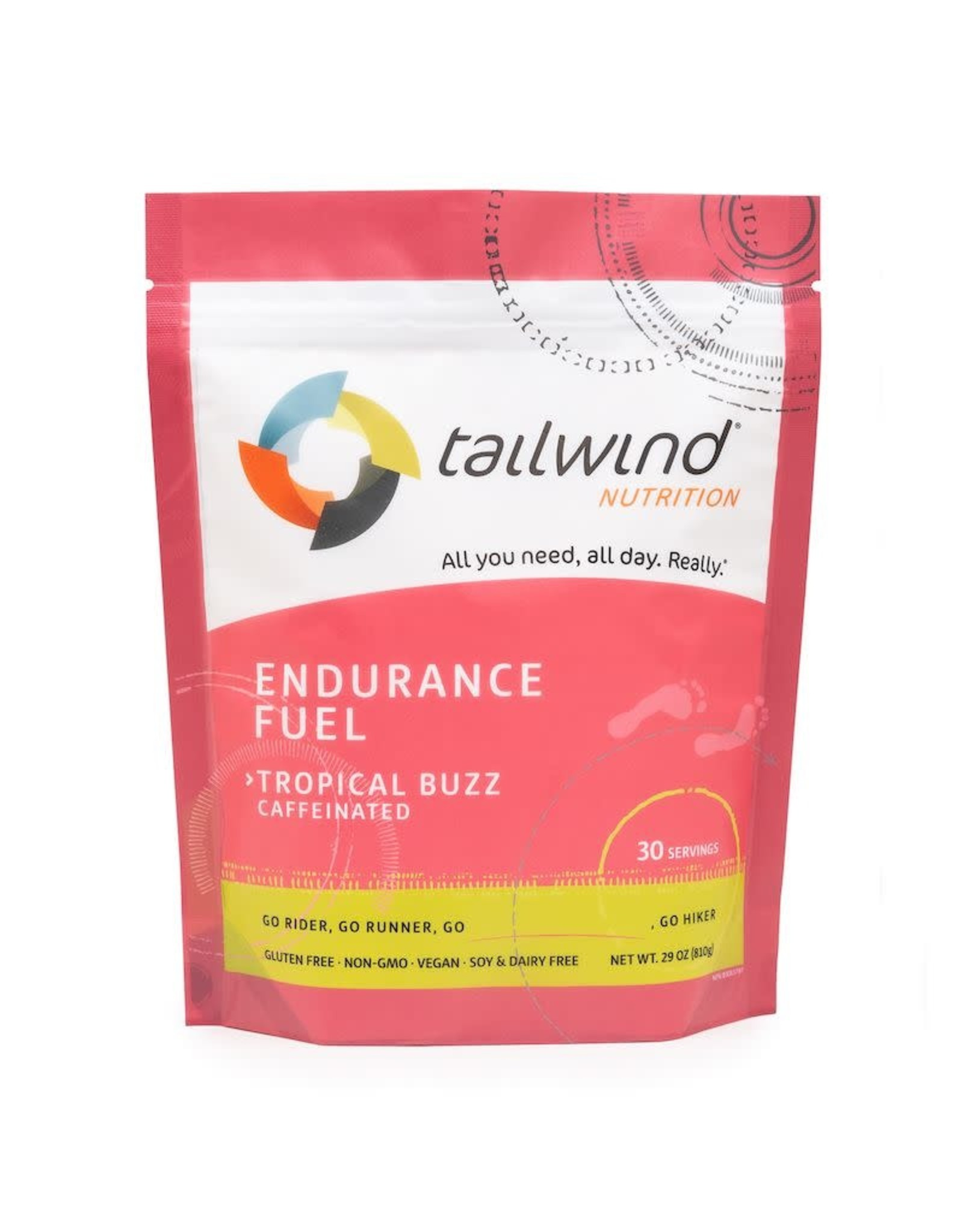 Tailwind Nutrition Endurance Fuel Tailwind Caffeinated Tropical Buzz (30 servings)