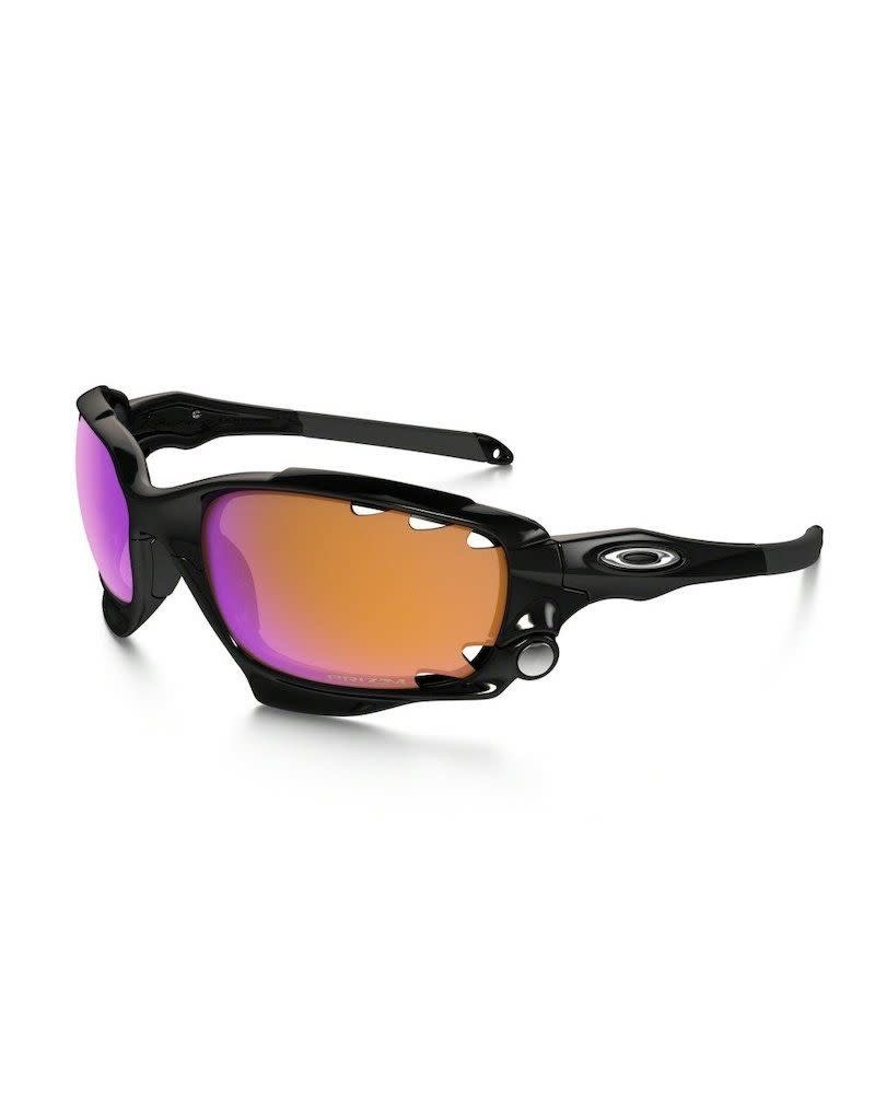 Oakley Oakley Racing Jacket Vented Polished Black Prizm Trail Clear