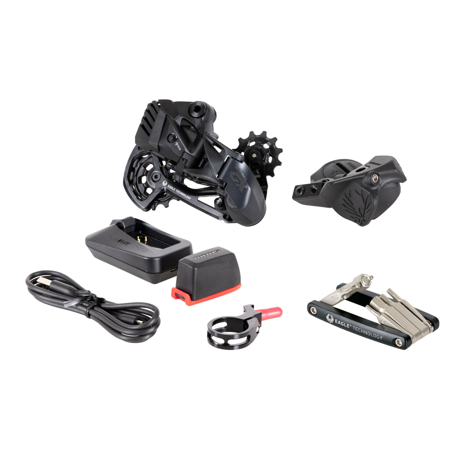 SRAM Upgrade Kit SRAM GX Eagle AXS  (Rear Der wBattery, Controller wClamp, Charger/Cord, Chain Gap Tool)