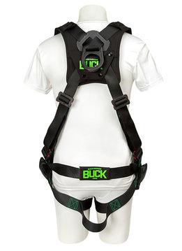 Buckingham Mfg BUCKOHM TRUEFIT HARNESS WITH DIELECTRIC D-RING - U68L7NQ2 BLACK