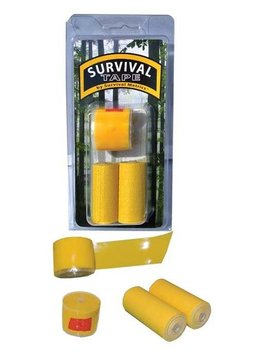 Survival Tape, Yellow, 3pk