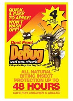 DEBUG DeBUG Insect Repellent Patch, 4pk