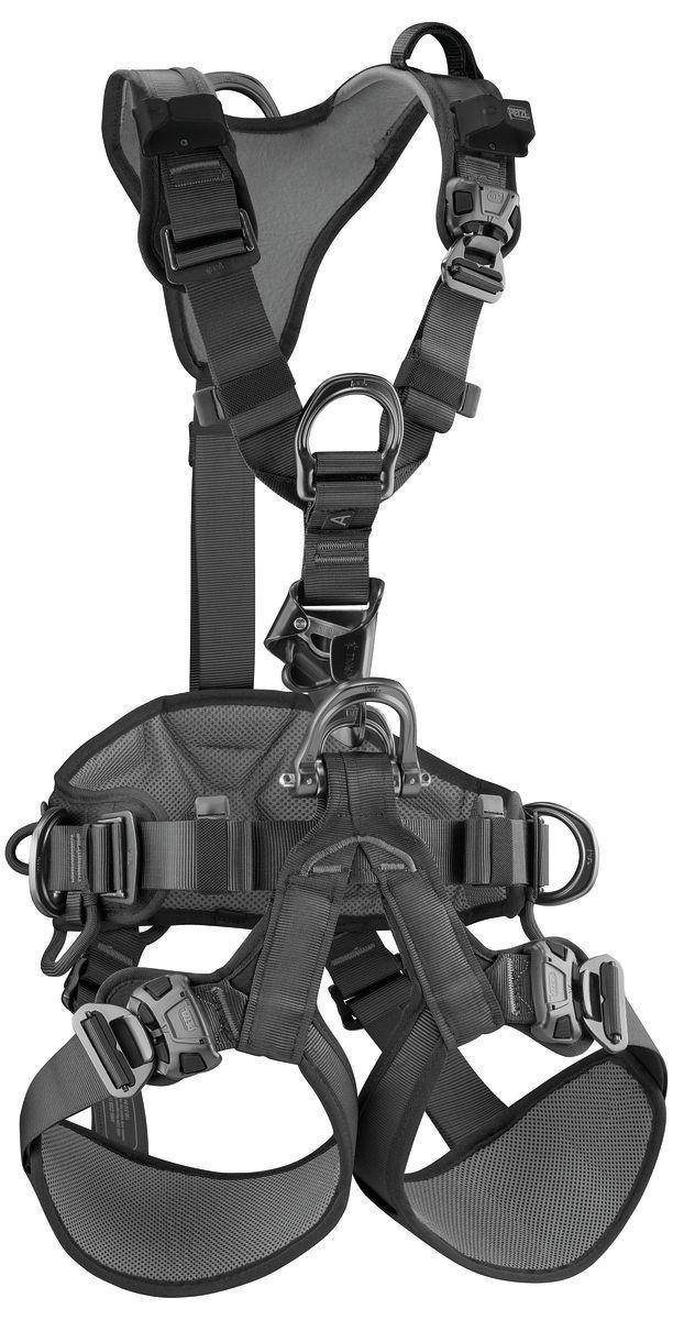 Petzl America 2019 Astro Bod Fast U Black Rope Access Harness