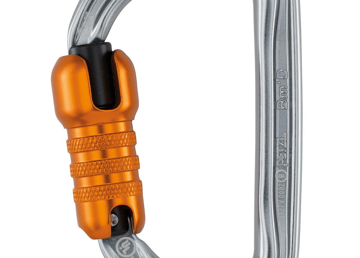 Petzl America Bm'D H-frame carabiner, NFPA, ANSI & CSA TRIACT-LOCK -