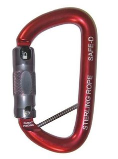 Sterling Rope SafeD Autolock Carabiner w/Lanyard Pin
