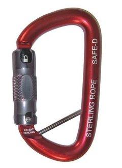 Sterling Rope SafeD Autolock Carabiner w/Lanyard Pin