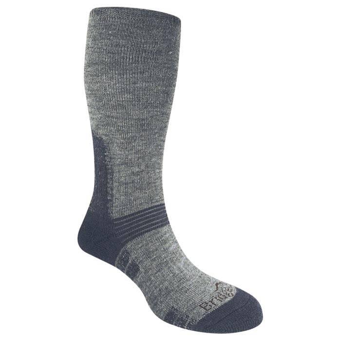 BRIDGEDALE Heavyweight Gray/Blue Wool Socks