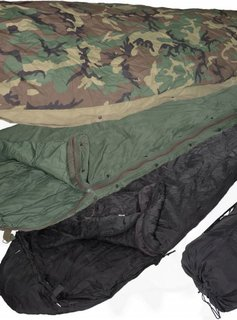 Military Surplus ECWS Sleeping Bag - 4 part system w/Bivy