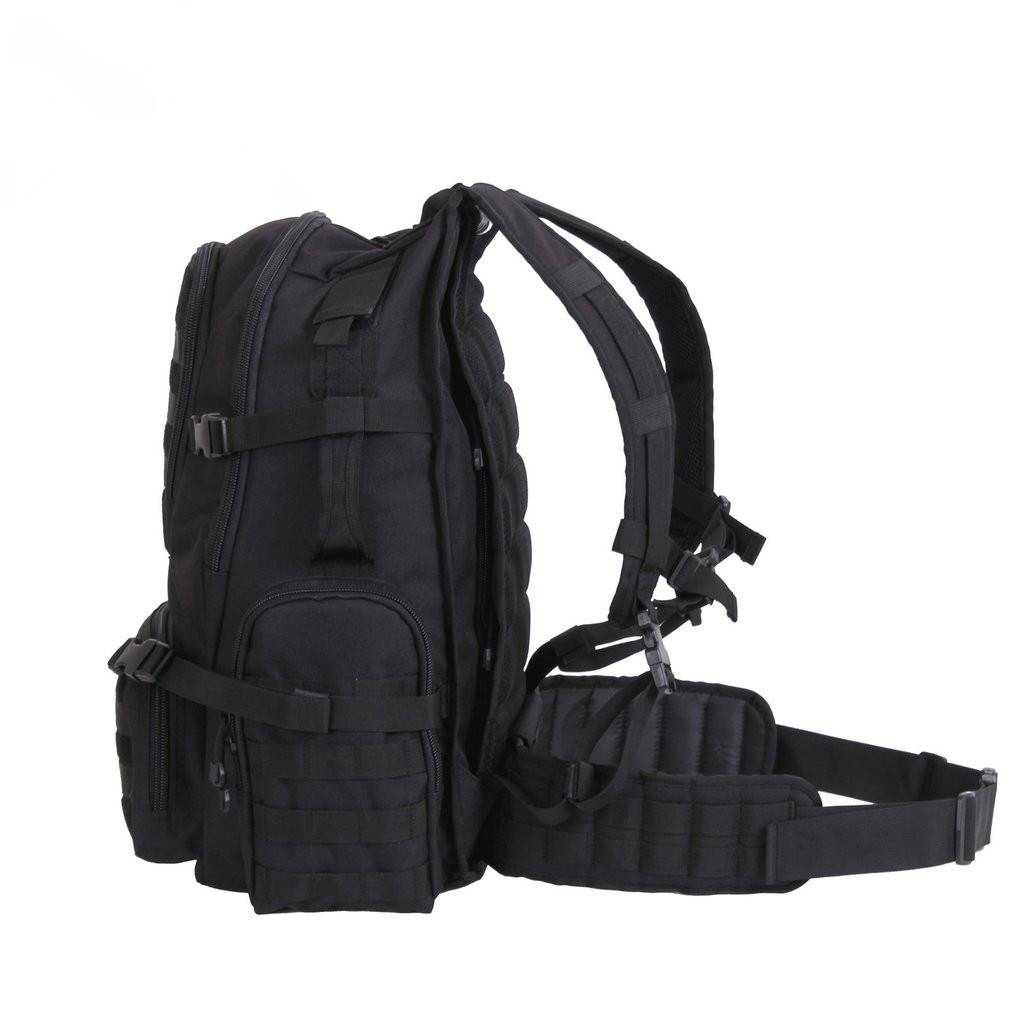 Rothco Multi-Chamber MOLLE Assault Pack - Black