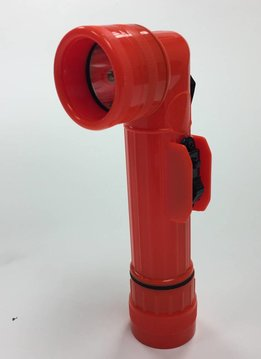 Military Surplus Orange Right Angle Flashlight