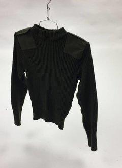Military Surplus 100% Wool Sweater, Green, USMC