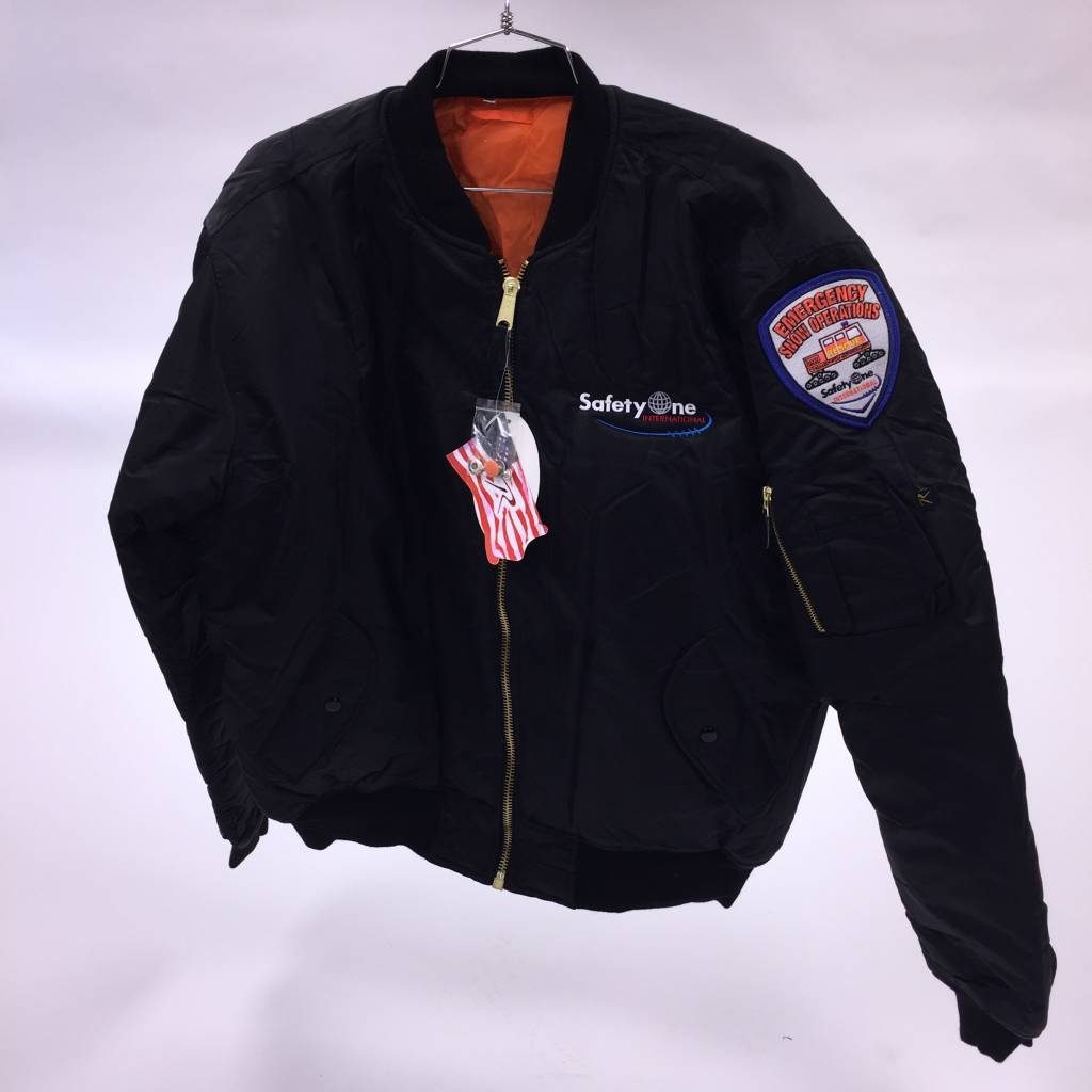Rothco SafetyOne MA-1 Flight Jacket - Black