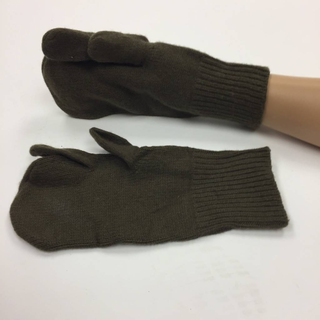 Military Surplus Wool Glove Liners, W/Trigger Finger