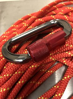 Safety One Safety One Branded Carabiner - Aluminum with ANSI Gate, Gray/Red