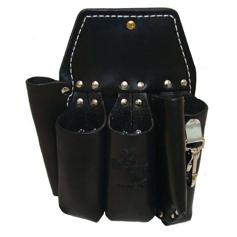 Buckingham Mfg 5 Pocket Holster, Short Back, Black