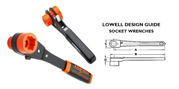 Lowell Tools Lowell Lineman's Ratcheting Wrench w/handle
