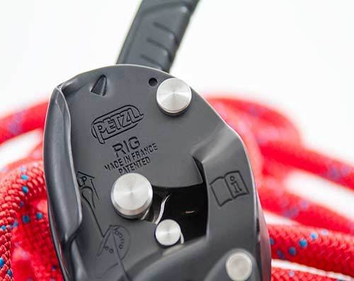 Petzl America Rig, Descender / Belay Device, NFPA,