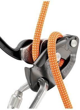 Petzl America GRIGRI 2, assisted braking belay device, Gray