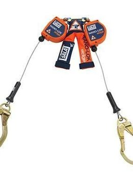 3M Nano-Lok edge Twin-Leg Quick Connect Self-Retracting Lifeline - Cable