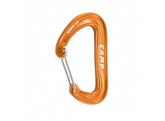 Camp USA Nano 22 Non-Locking, Wire Gate Carabiner