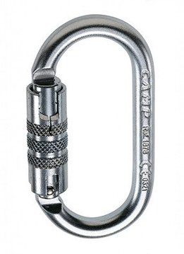 Camp USA STEEL OVAL 2LOCK CARABINER