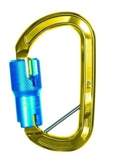Sterling Rope Aluminum ANSI Autolock w/pin Gold w/Blue