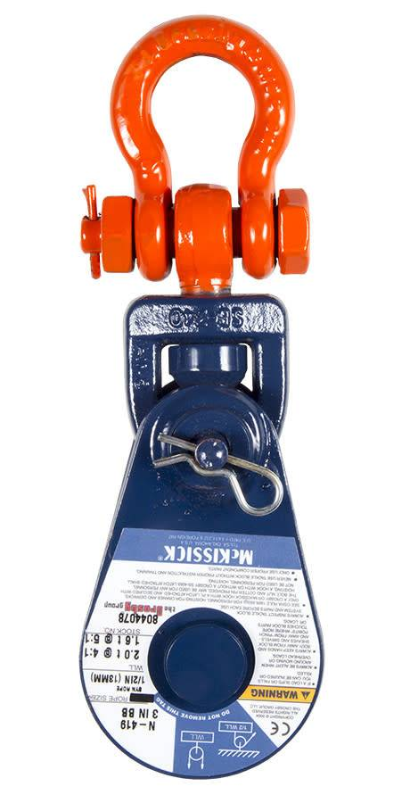 "McKissick Block - 3"" Sheave  - 1/2"" Synthetic Rope"