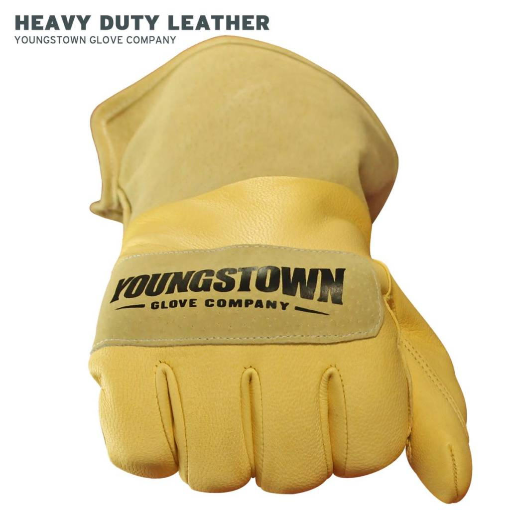 Youngstown Leather Utility Plus Wide-Cuff Glove