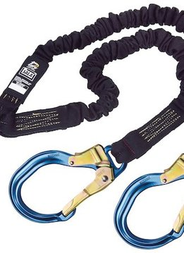 3M Fall Protection 100% Tie-Off, tubular Nomex/Kevlar web, steel hooks, 6 ft.