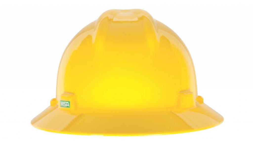 MSA Safety V Gard Hard Hat W/Rachet Suspension