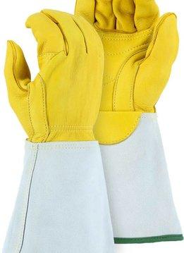 Majestic Glove Linemen Glove, Elk, Gauntlet - 1516E, Pair
