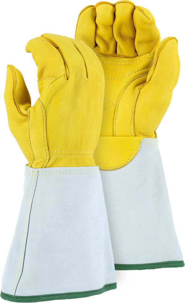 Linemen Glove, Elk, Gauntlet - 1516E, Pair