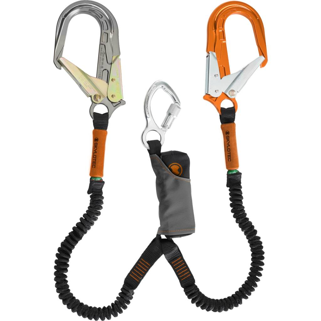 Skylotec SKYSAFE PRO FLEX ALU Double leg Large Orange and Silver Alu Snaphooks