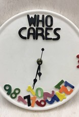 """Who Cares"""" Wall Clock"""