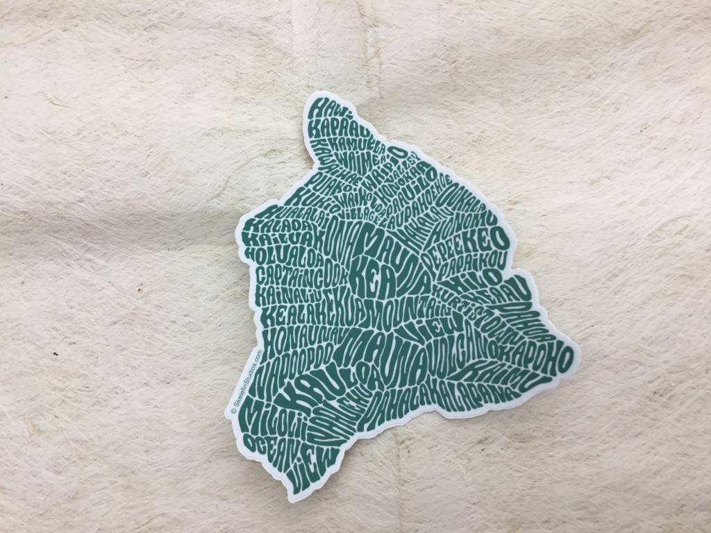 Hawaii Island Sticker Green