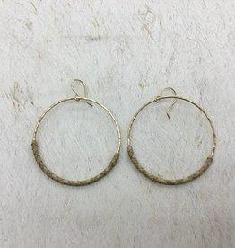 14KGF/SS LĀ Lauhala Earrings