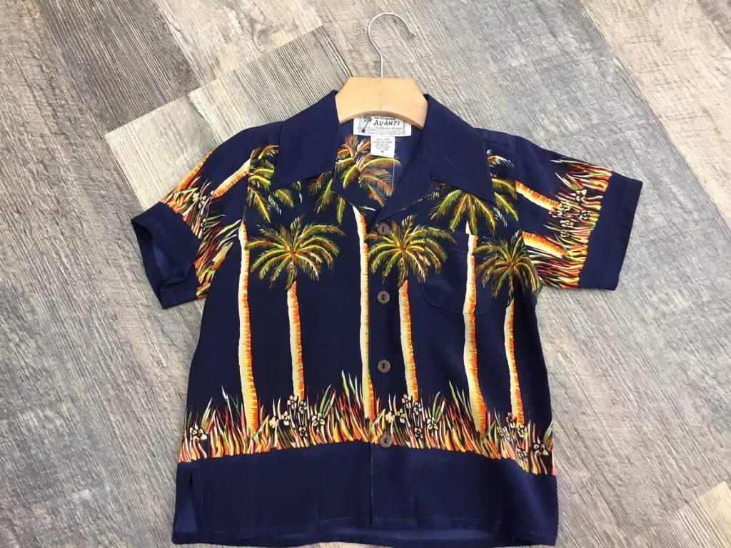 Boys Aloha Palms Navy