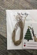 GIFT TAG ANIMAL TREE