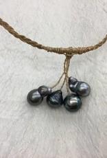4 Tahitian Perals Sennit Necklace