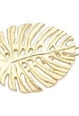 SMALL LEAF TIGE BOULE GOLD/CRYSTAL