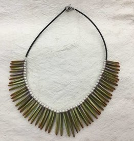 GREEN SEA URCHIN NECKLACE