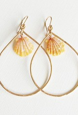 14KGF SUNRISE SHELL EARRING E127